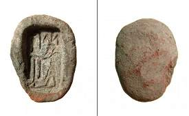 Egyptian terracotta amulet mold for a plaque of Hapi
