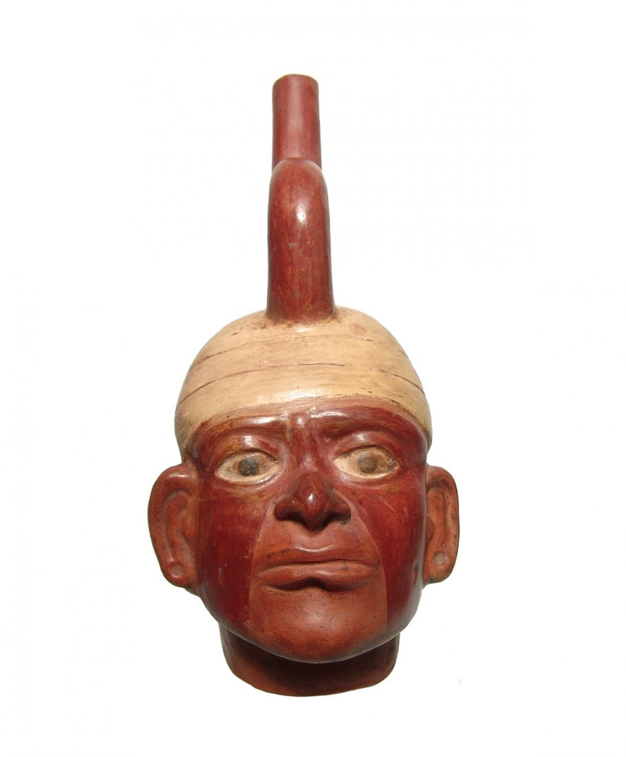 A lovely Moche portrait vessel