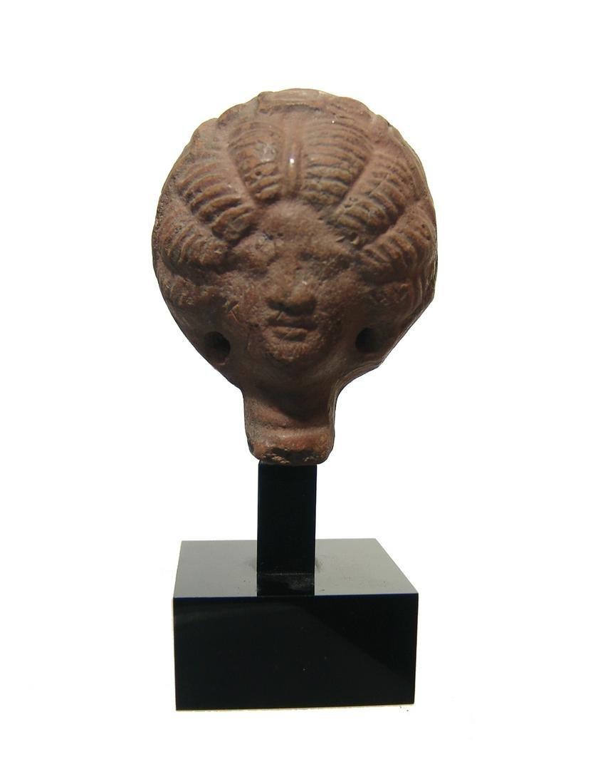 A nice Roman terracotta head of a fashionable lady