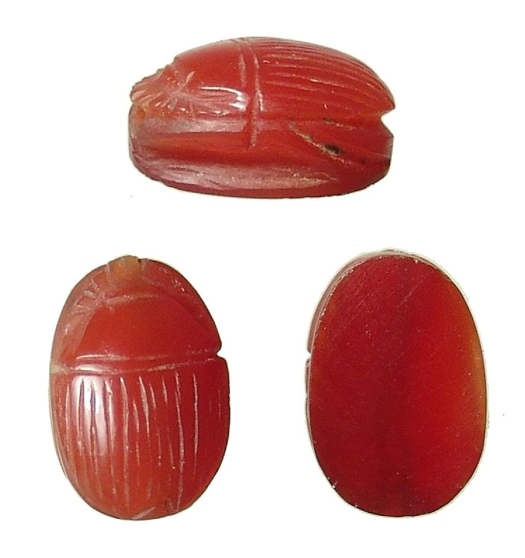 Beautiful Egyptian carnelian scarab, New Kingdom