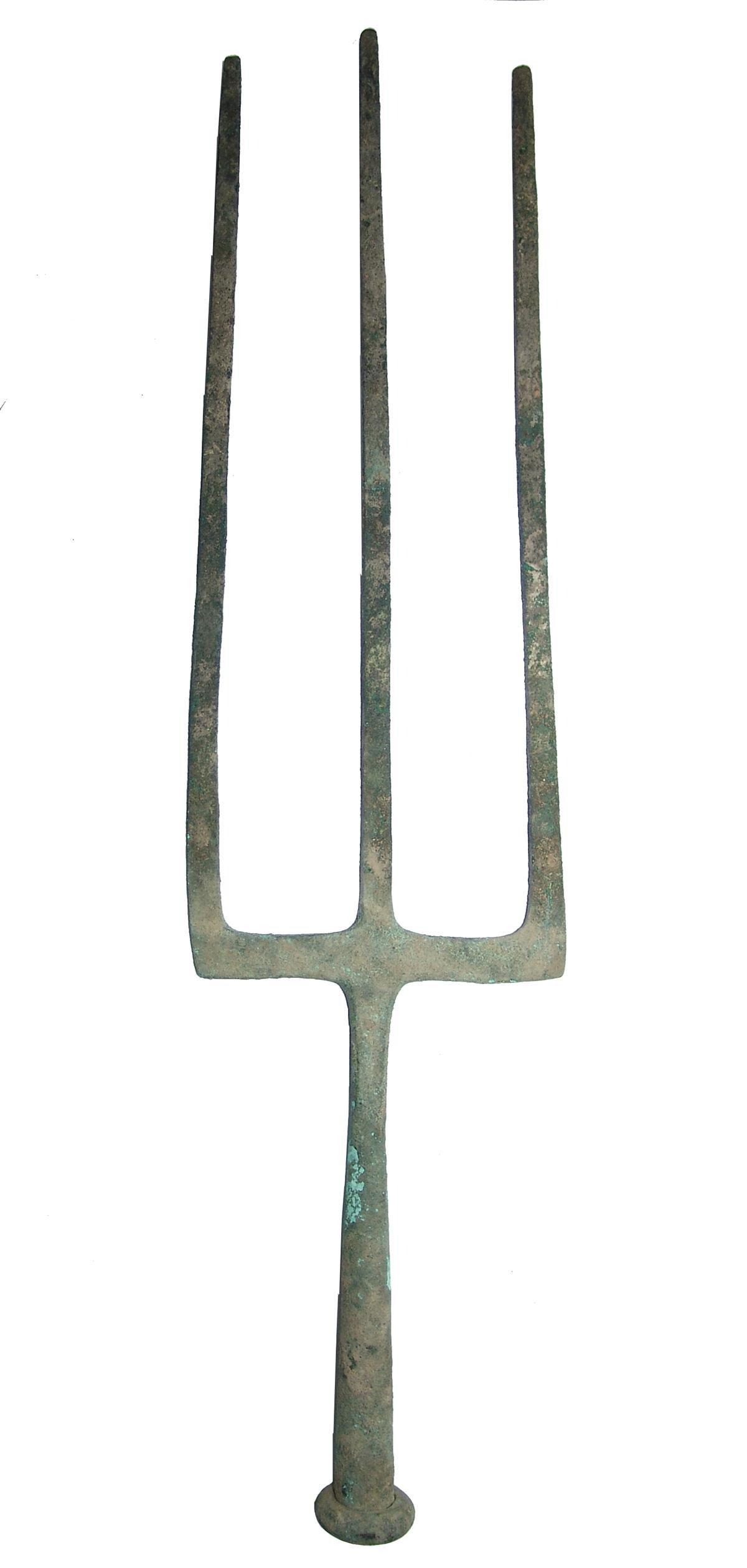 A massive Hellenistic bronze trident