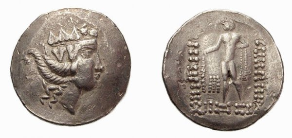 3: Celtic. Danube,  AR Tetradrachm. Thasos Type. VF