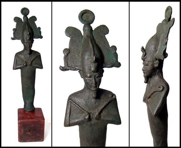 8: Handsome Egyptian bronze statuette of Osiris