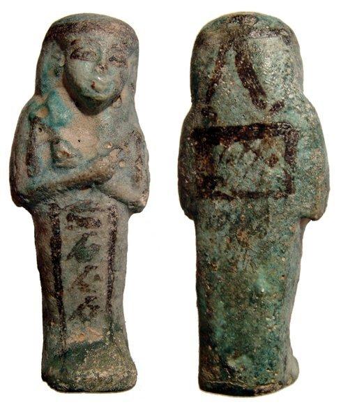 18: Attractive 22nd Dynasty faience ushabti