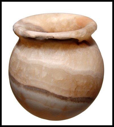 6: Old Kingdom Egypt. Alabaster round-bodied jar