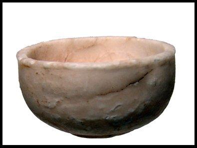 7: Old Kingdom Egypt. Shallow alabaster bowl