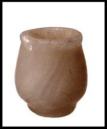 11: New Kingdom Egypt. Small alabaster votive jar
