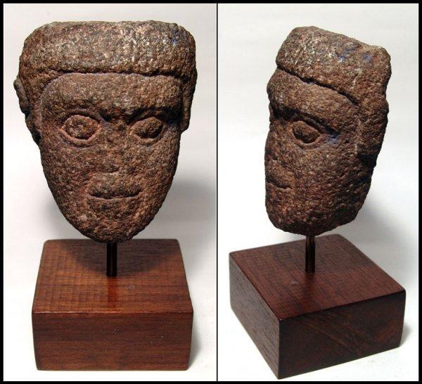 16: Roman Egypt, stone male head. Tetrarchy?