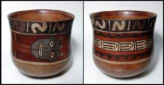347 Nazca Peru Large polychrome serpentcup