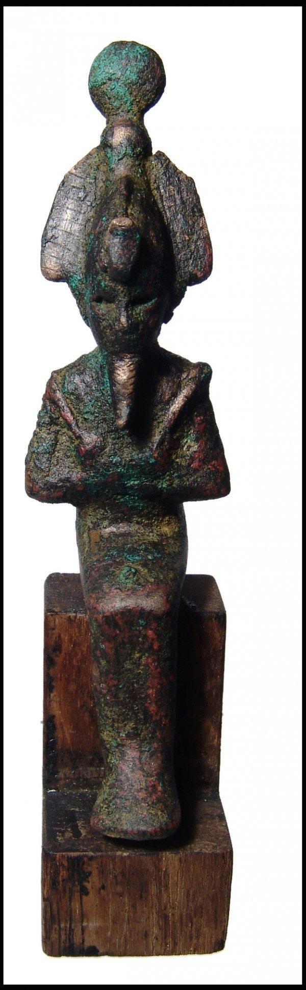 5: Ancient Egypt. Seated bronze figure of Osiris
