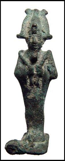 6: Ancient Egypt. Nice bronze figure of Osiris