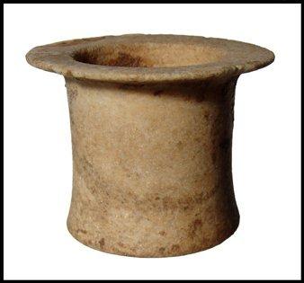 13: Nice Middle Kingdom alabaster wide-mouthed jar