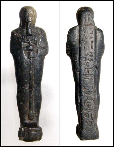 15: Ancient Egypt. Serpentine statuette of Ptah