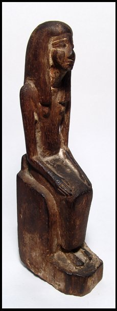 20: New Kingdom. Wooden seated woman figure