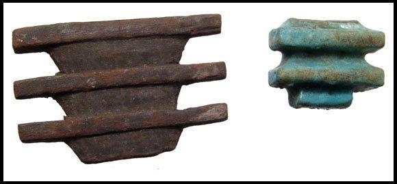 24: Ancient Egypt. Pair of Djed columns