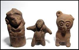 287 Group of three Maya figures ca 500800 AD
