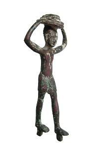Egyptian bronze figure of an attendant/servant