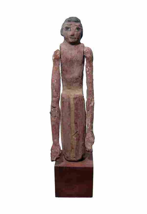 A nice Egyptian painted wood figure