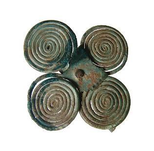 An Italic bronze four-coil brooch, Campania