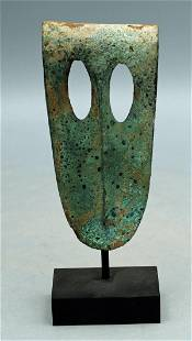 A fine Canaanite bronze duck bill axe head
