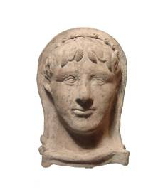 A marvelous Etruscan terracotta head of a man
