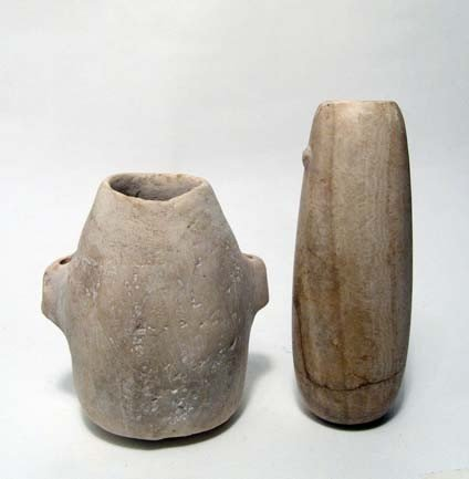 18: Pair of ancient Egyptian alabaster vessels