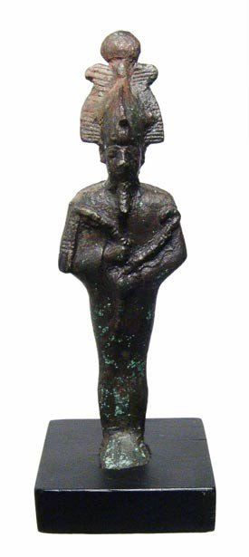 24: Egypt. Nice bronze figure of the god Osiris