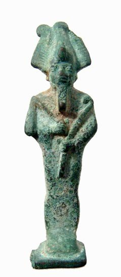 25: Egypt. Attractive bronze amulet of Osiris