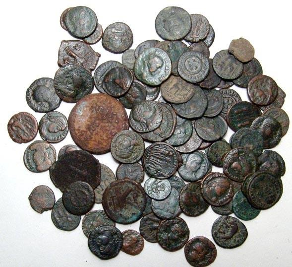 197: Large lot of Roman, Greek and Byzantine coins