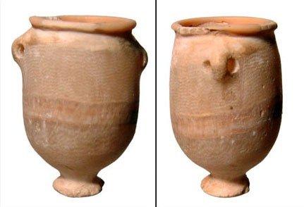 4: New Kingdom Egypt. Footed alabaster jar