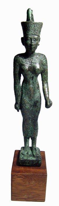 8:Egytptian beautiful bronze figure of  goddess Neith