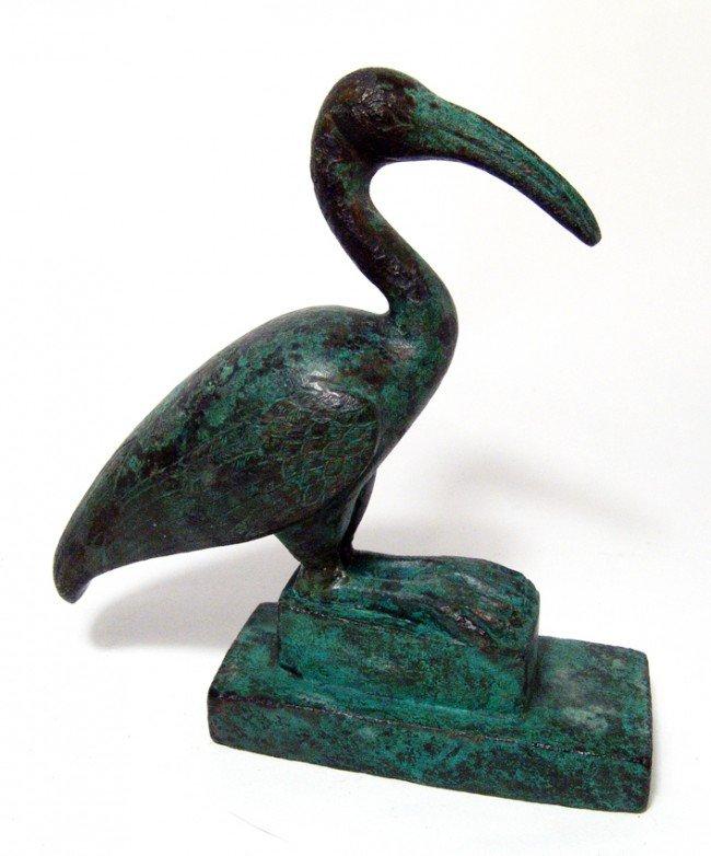 9: Attractive bronze Ibis, Late Period Egypt
