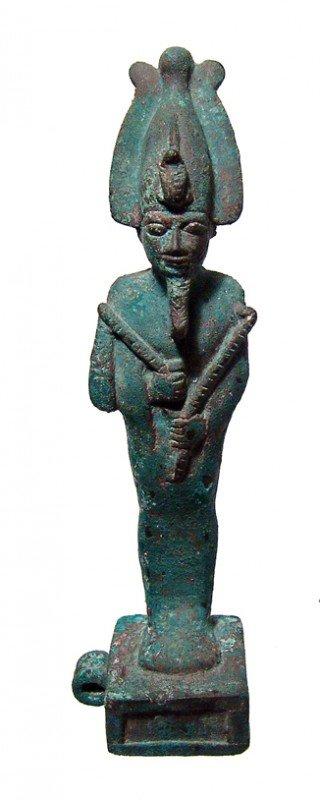 10:Egypt  nicely detailed bronze figure of Osiris