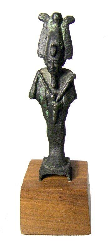 11:Egypt superbly detailed bronze figure of Osiris