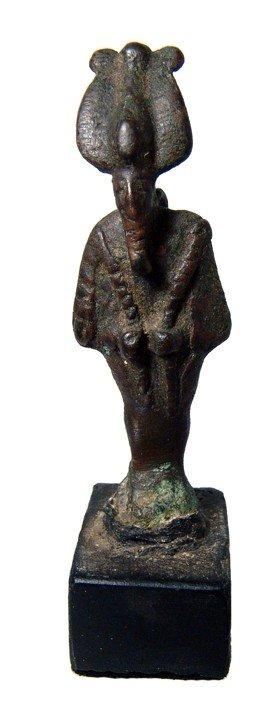 14: Egyptian bronze Osiris, mounted on base