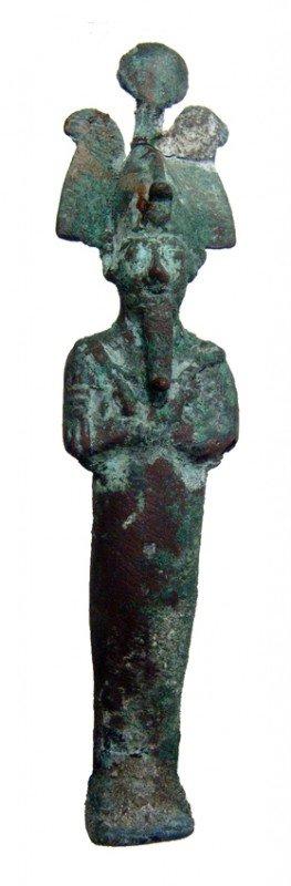 15:Egypt  Bronze figure of the god Osiris, Late Period
