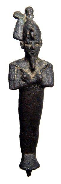 16: Egypt Bronze figure of Osiris, Late Period