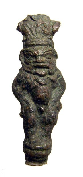 23: Graeco-Roman bronze figure of the dwarf god Bes