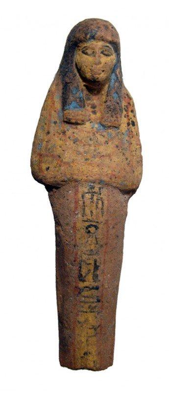 33: Nicely painted New Kingdom Egypt terracotta ushabti