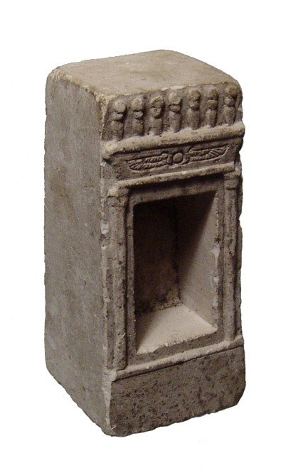 15. A Choice Egyptian Limestone Votive Shrine