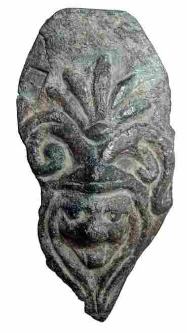 Roman bronze decorative applique, lion