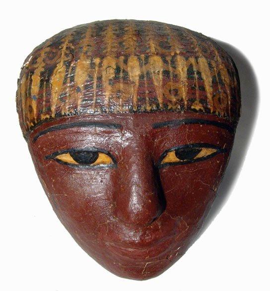 2: Choice cartonnage mask from a sarcophagus