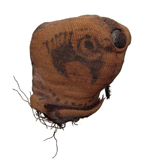 5: Roman Egypt, falcon mummy linen head