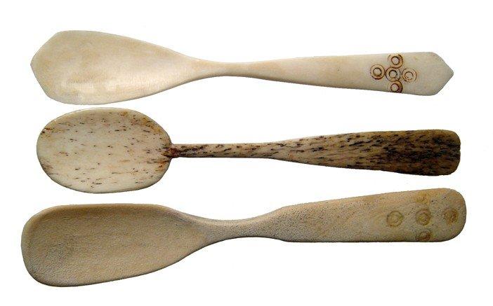 11: 3 Coptic bone spoons, Roman Egypt
