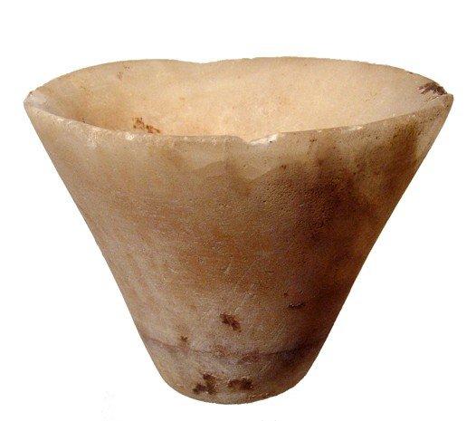 14: Nice Old Kingdom alabaster jar, Dynasty 5-6