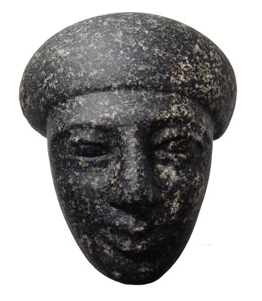 16: Granite facial portion from a sarcophagus
