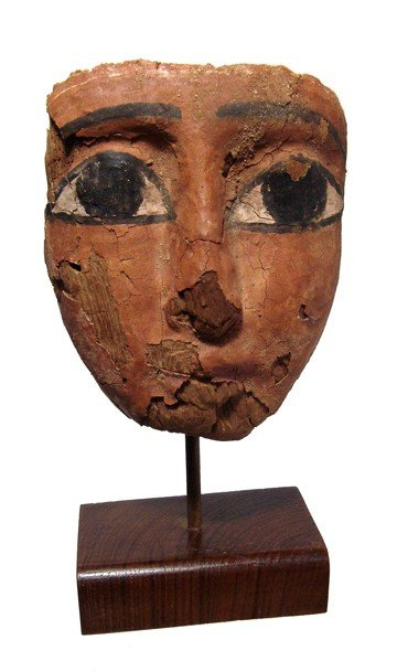 21: Egypt. Attractive mummy mask with large eyes