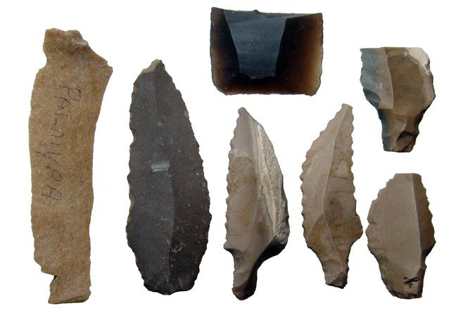 1: Lot of flint scrapers - Palmyra & Egypt