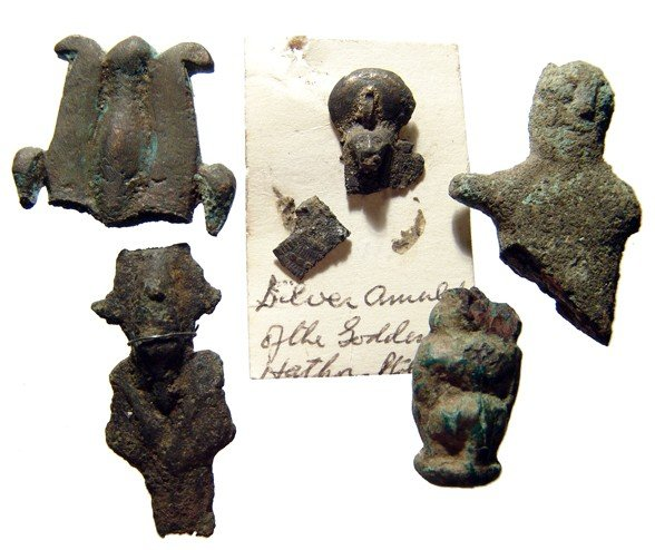 11: 5 fragmentary Egyptian bronze votive objects