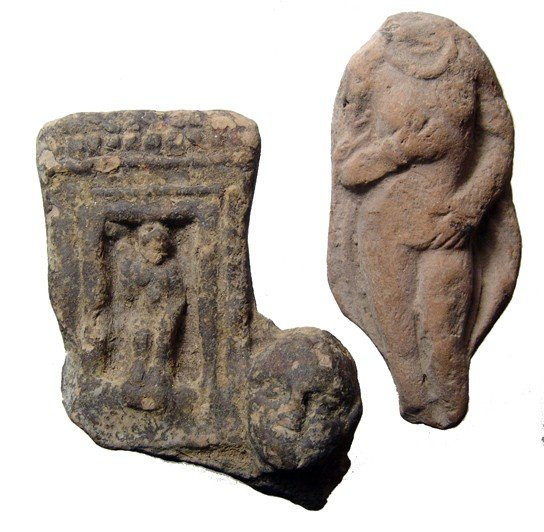 17: Pair of ancient terracotta molded fragments